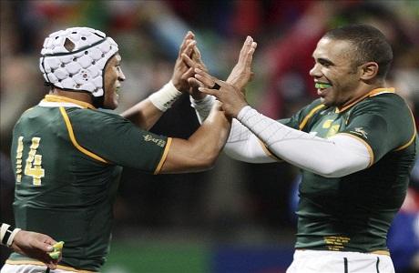 Sudáfrica arrasó a Namibia por la Copa del Mundo de rugby