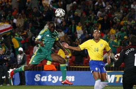 Sudáfrica se prepara para el partido con Brasil
